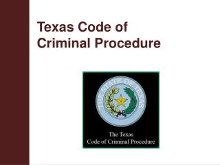 Texas Code of  Criminal Procedure