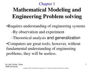 Chapter 1 Mathematical Modeling and Engineering Problem solving
