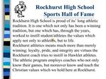 Rockhurst High School Sports Hall of Fame