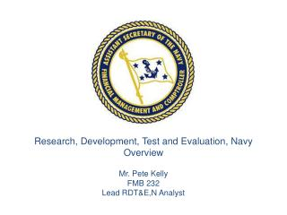Research, Development, Test and Evaluation, Navy Overview