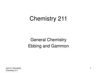 Chemistry 211