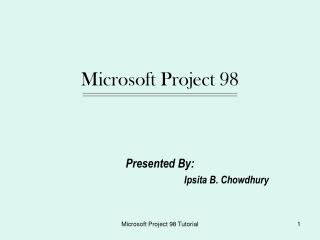 Microsoft Project 98