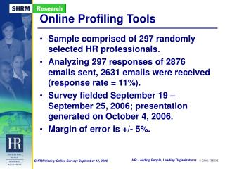 Online Profiling Tools