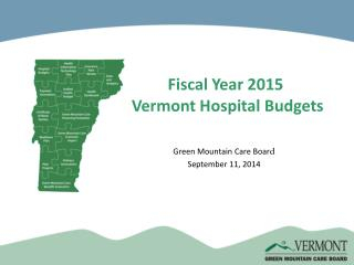 Fiscal Year 2015  Vermont Hospital Budgets