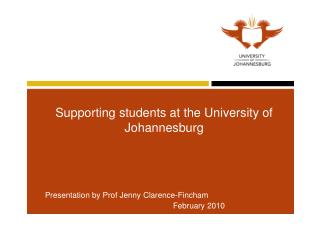 Supporting students at the University of Johannesburg
