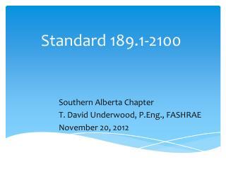 Standard 189.1-2100