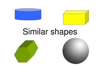 Similar shapes