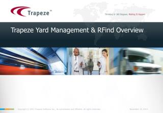 Trapeze Yard Management & RFind Overview