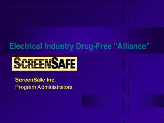 Electrical Industry Drug-Free �Alliance�