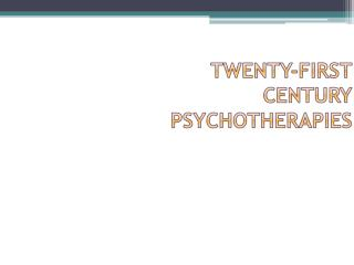 Chapter 3 � Cognitive Therapy