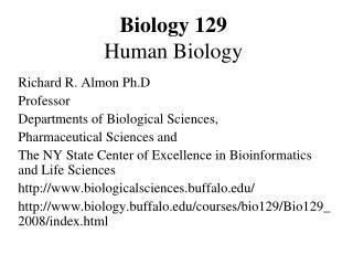 Biology 129 Human Biology