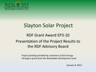 Slayton Solar Project