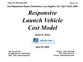 Responsive  Launch Vehicle  Cost Model