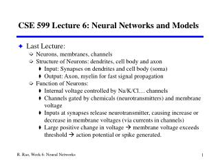 CSE 599 Lecture 6: Neural Networks and Models