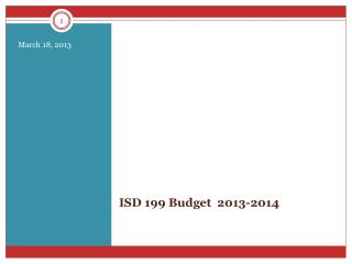 ISD 199 Budget  2013-2014