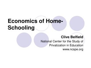 Economics of Home-Schooling