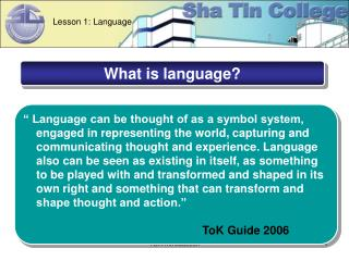 TOK Introduction