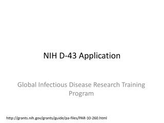 NIH D-43 Application