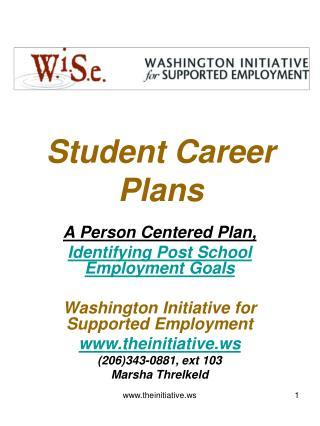 Student Career Plans