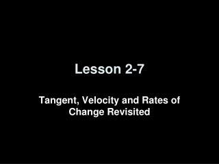 Lesson 2-7