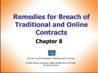 Remedies for Breach of Traditional and Online Contracts