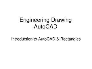 Engineering Drawing AutoCAD