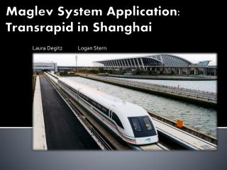 Maglev System  A pplication:  Transrapid  in Shanghai