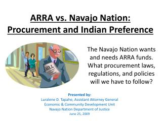 ARRA vs. Navajo Nation:  Procurement and Indian Preference