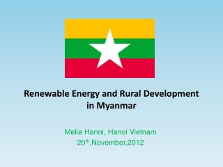 Renewable Energy and Rural Development  in Myanmar