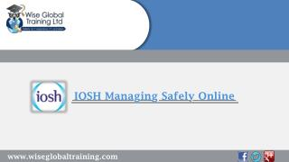 IOSH Managing Safely online