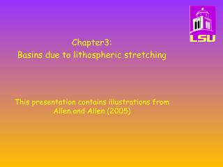 Chapter3:   Basins due to lithospheric stretching