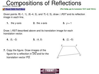 Compositions of Reflections