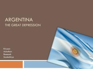 Argentina The great depression