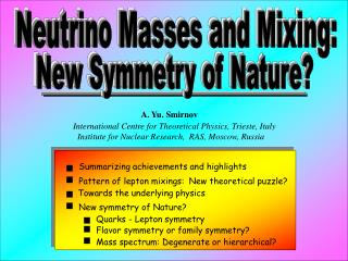 Neutrino Masses and Mixing: