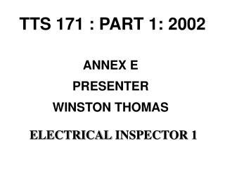 TTS 171 : PART 1: 2002