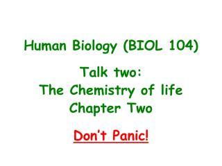 Human Biology (BIOL 104)