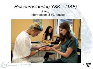 Informasjon til 10. klasse