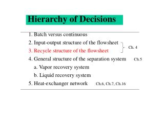 Hierarchy of Decisions