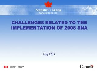 Challenges Related to the Implementation of 2008 SNA