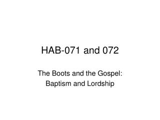 HAB-071 and 072