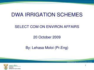 DWA IRRIGATION SCHEMES