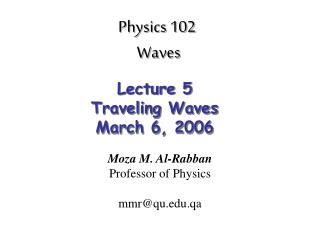 Physics 102  Waves