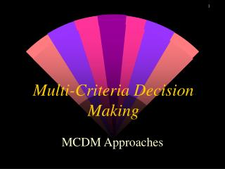 Multi-Criteria Decision Making