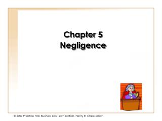 Chapter 5 Negligence