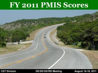 FY 2011 PMIS Scores