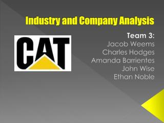 Industry and Company Analysis
