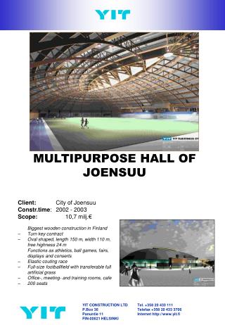 MULTIPURPOSE HALL OF JOENSUU