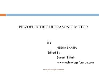 PIEZOELECTRIC ULTRASONIC MOTOR 					BY