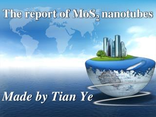 The report of MoS 2  nanotubes