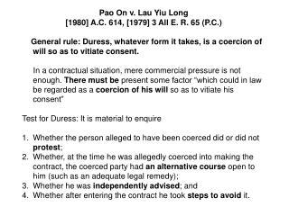 Pao On v. Lau Yiu Long [1980] A.C. 614, [1979] 3 All E. R. 65 (P.C.)